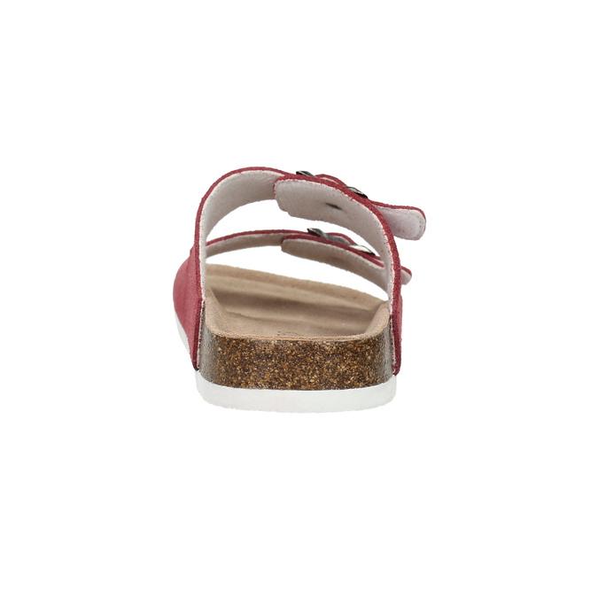 Kožené dámske papuče de-fonseca, červená, 573-4621 - 17