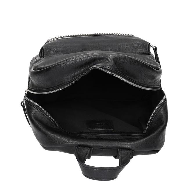 Čierny dámsky batoh s kamienkami bata, čierna, 961-6855 - 15