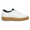 Dámske kožené tenisky na flatforme bata, biela, 526-1645 - 15