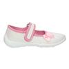Detská domáca obuv s mašličkou mini-b, biela, 379-1214 - 15
