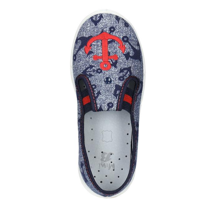 Detská domáca obuv s kotvou mini-b, modrá, 379-2213 - 19