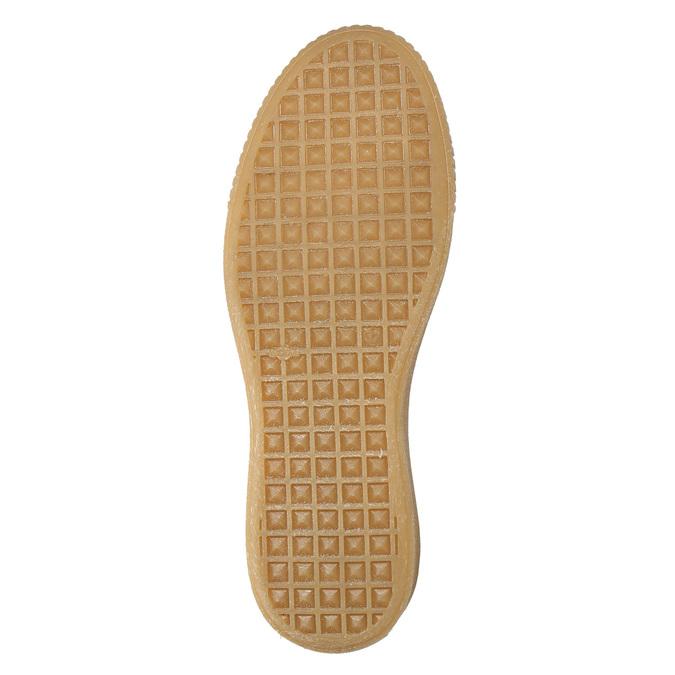 Dámske kožené tenisky na flatforme bata, biela, 526-1645 - 19