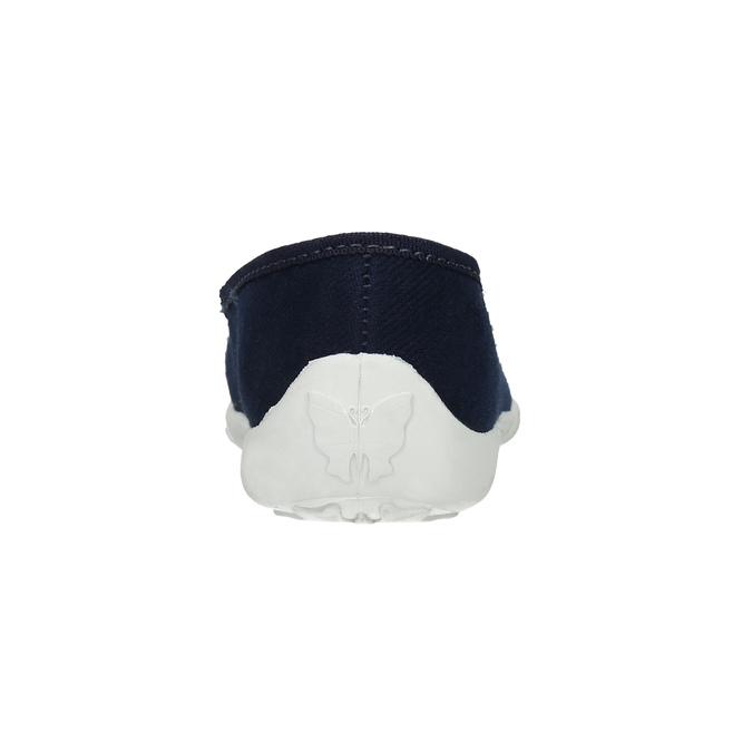 Domáca obuv s kvietkami mini-b, modrá, 379-9215 - 17