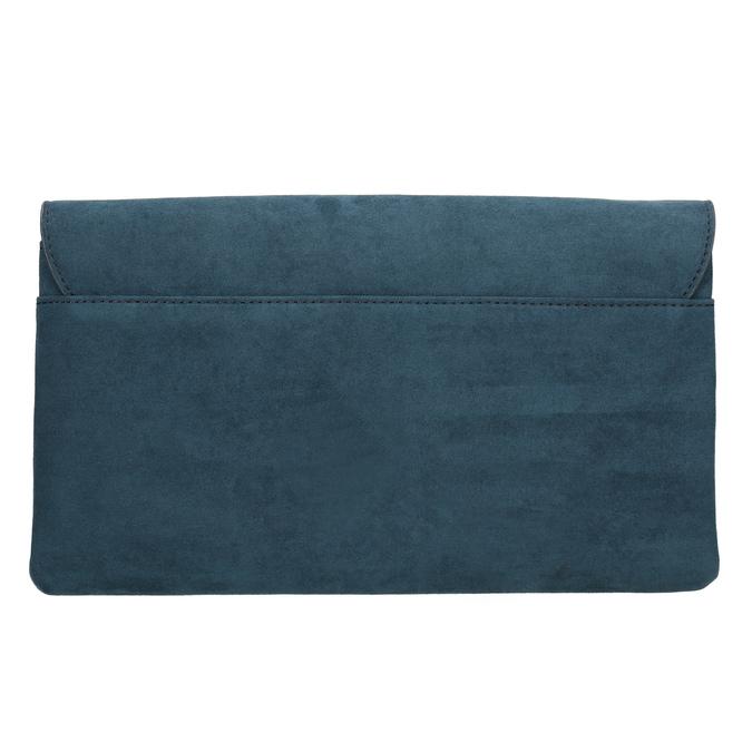 Dámska modrá listová kabelka s pútkom bata, modrá, 969-9665 - 26