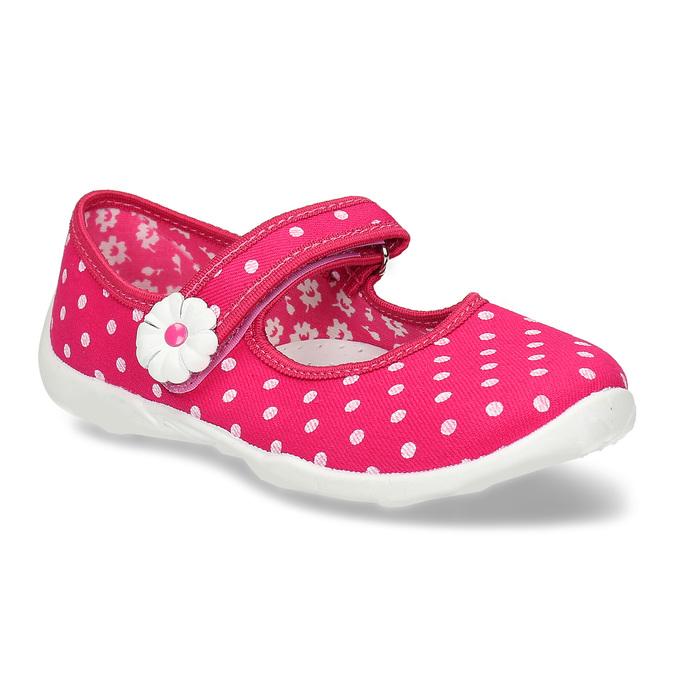 Domáce papuče s bodkami mini-b, ružová, 379-5214 - 13