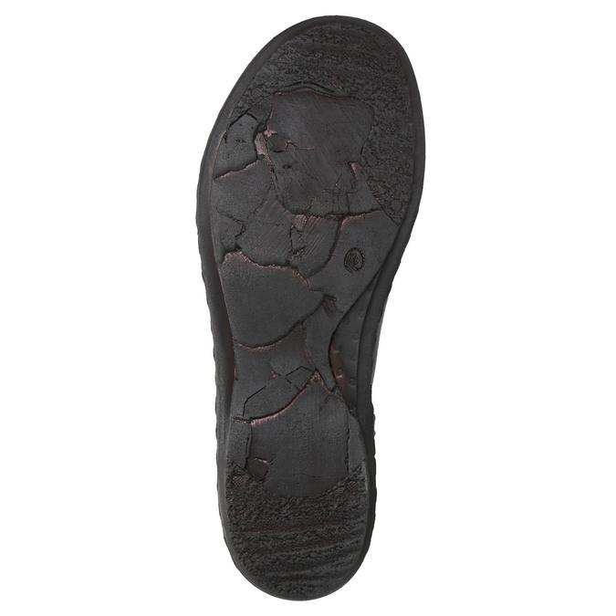 Dámska kožená členková obuv bata, červená, 596-5656 - 19