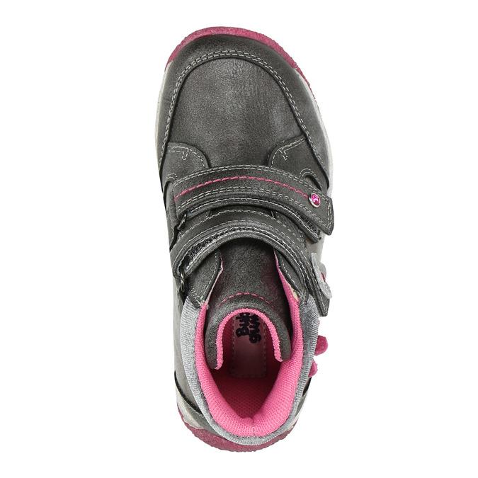 Členková dievčenská obuv bubblegummers, šedá, 221-2607 - 26