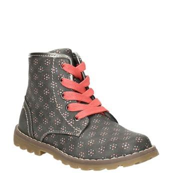 Detská členková obuv bubblegummers, šedá, 221-2606 - 13