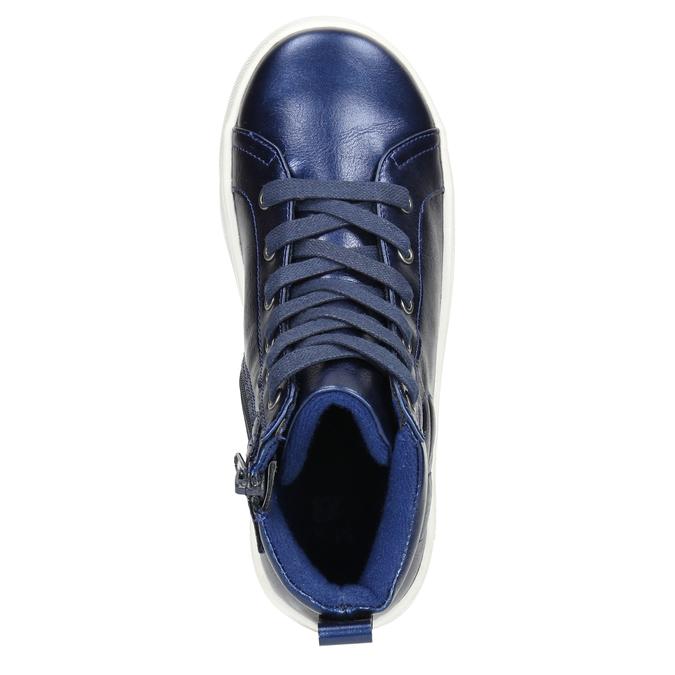 Modré detské členkové tenisky mini-b, modrá, 321-9610 - 26