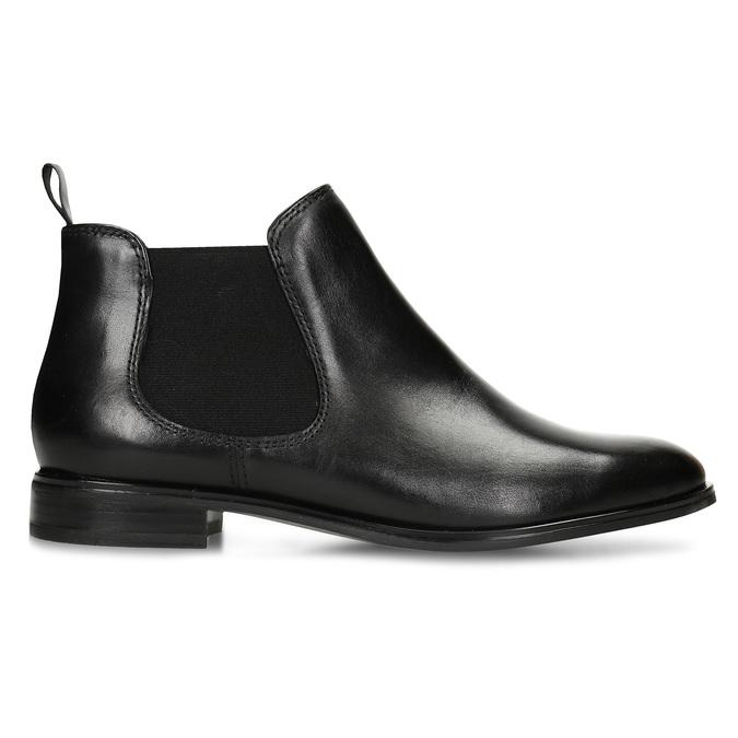 Čierna kožená obuv v Chelsea štýle bata, čierna, 594-6635 - 19