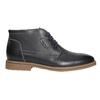 Pánska členková obuv s prešitím bata, čierna, 826-6614 - 15