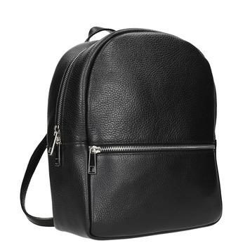 Kožený čierny batoh bata, čierna, 964-6240 - 13