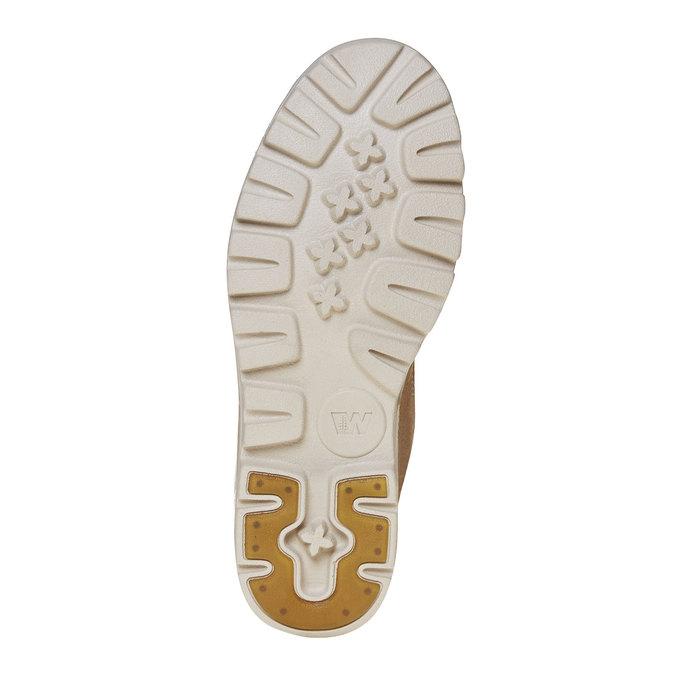 Kožená kotnikova obuv na šněrování weinbrenner, hnedá, 594-8323 - 26