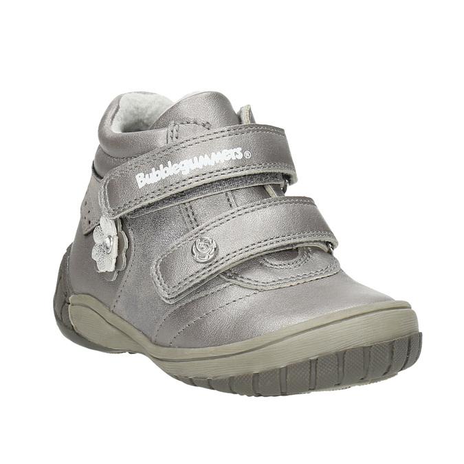 Dievčenská členková obuv s ozdobnou aplikáciou bubblegummers, strieborná, 121-1622 - 13