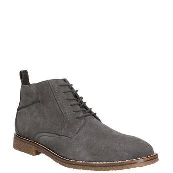 Kožená pánska členková obuv bata, šedá, 823-2615 - 13