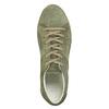 Dámske kožené khaki tenisky bata, zelená, 523-7604 - 26