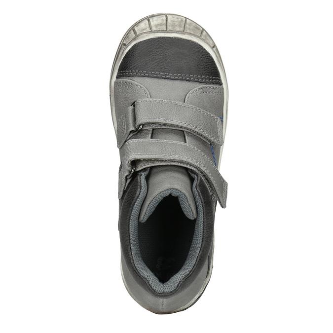 Členková detská obuv na suchý zips mini-b, šedá, 211-2624 - 26