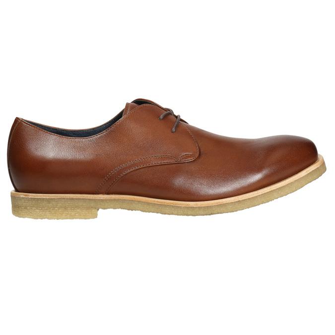 Kožené poltopánky s ležérnou podrážkou bata, hnedá, 826-3412 - 15