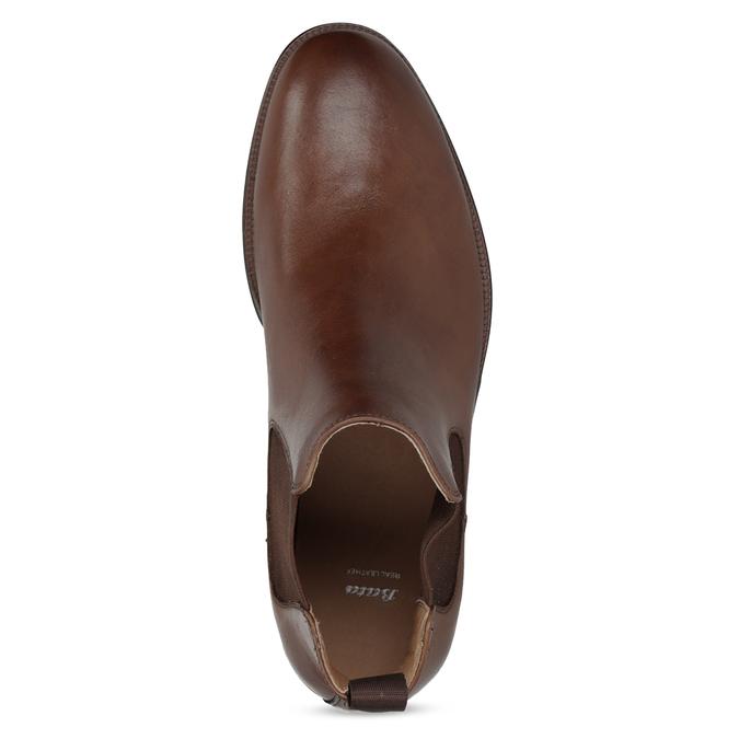 Hnedé kožené Chelsea Boots bata, hnedá, 896-3400 - 17