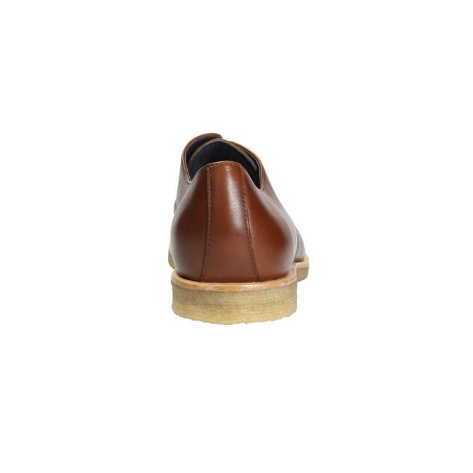 Kožené poltopánky s ležérnou podrážkou bata, hnedá, 826-3412 - 17