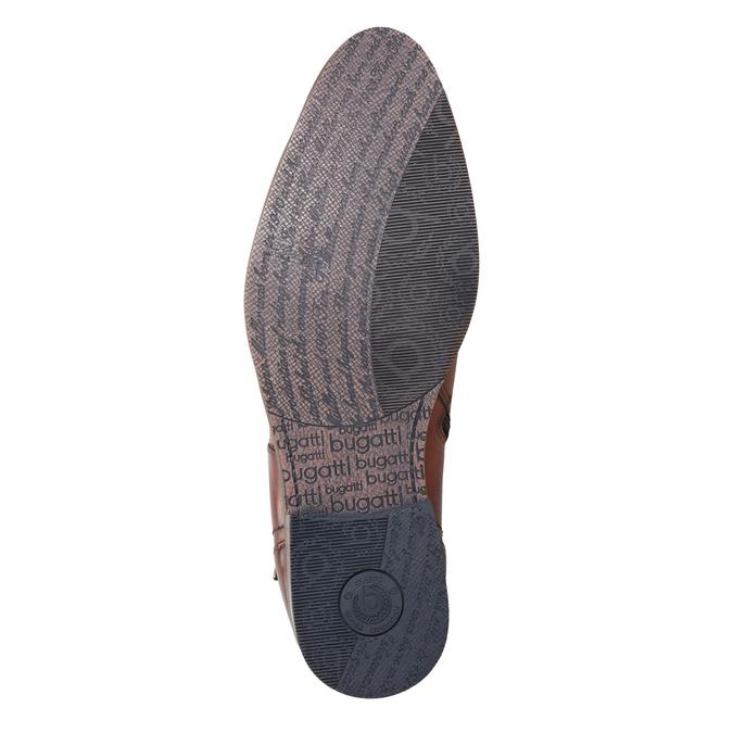 Kožená členková obuv s prackou bugatti, hnedá, 816-3043 - 17