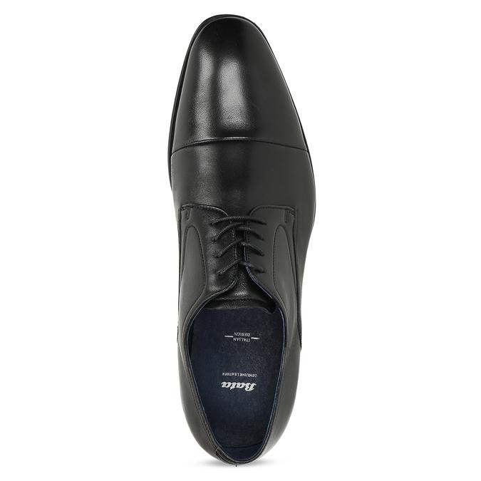 Kožené pánske Derby poltopánky bata, čierna, 824-6406 - 17