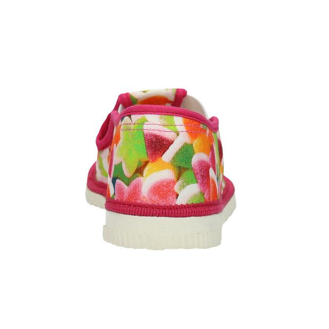Dievčenská domáca obuv so vzorom bata, ružová, 279-5122 - 16