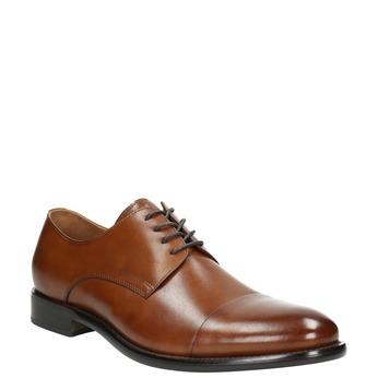 Hnedé kožené Derby poltopánky bata, hnedá, 826-3682 - 13