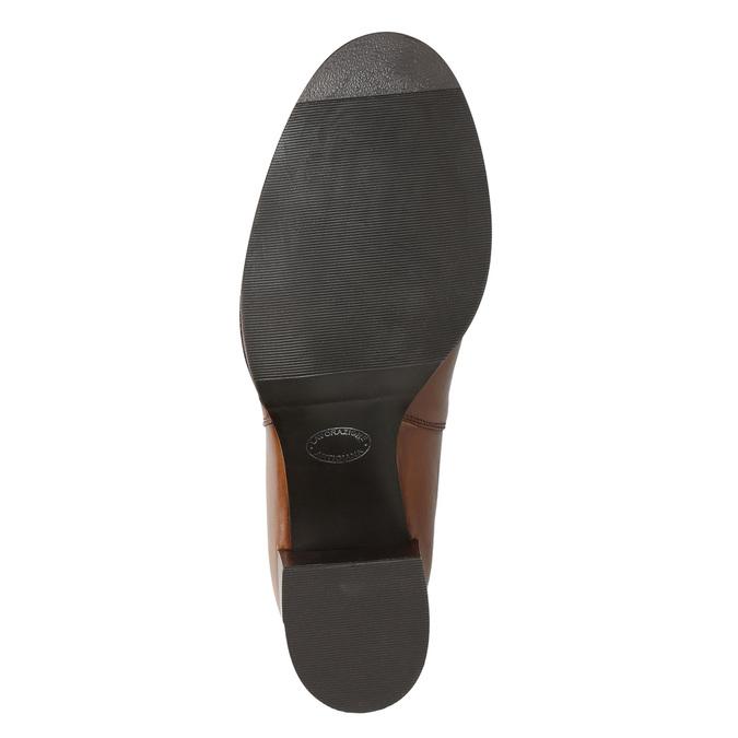 Členková kožená obuv na podpätku bata, hnedá, 694-4641 - 19