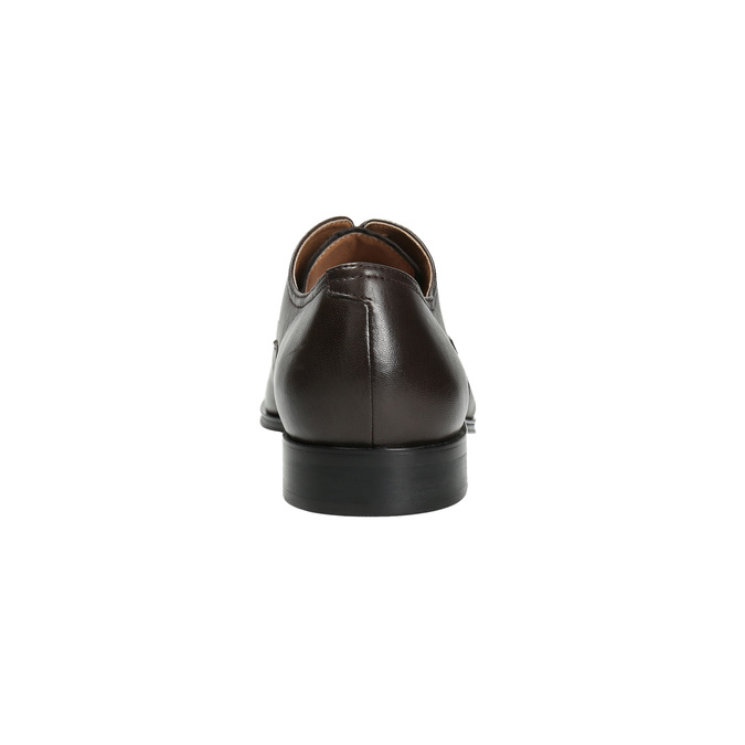 Hnedé kožené Derby poltopánky bata, hnedá, 824-4406 - 17