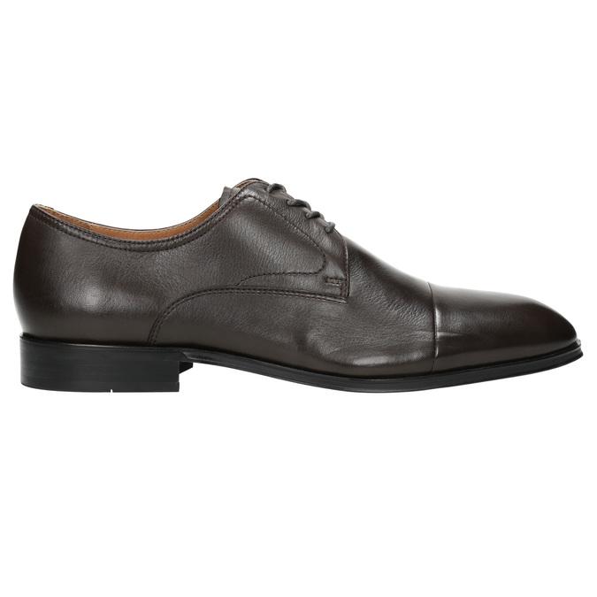 Hnedé kožené Derby poltopánky bata, hnedá, 824-4406 - 15
