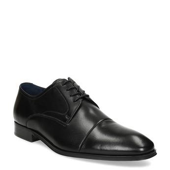 Kožené pánske Derby poltopánky bata, čierna, 824-6406 - 13