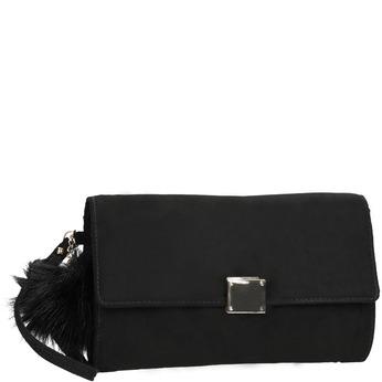 Dámska listová kabelka s kovovou sponou bata, čierna, 969-6666 - 13