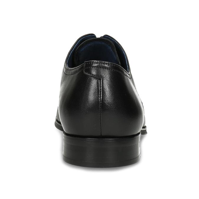 Kožené pánske Derby poltopánky bata, čierna, 824-6406 - 15