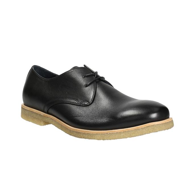 Kožené poltopánky s ležérnou podrážkou bata, čierna, 824-6412 - 13