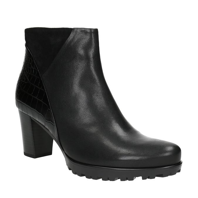 Dámska členková obuv na podpätku gabor, čierna, 716-6029 - 13