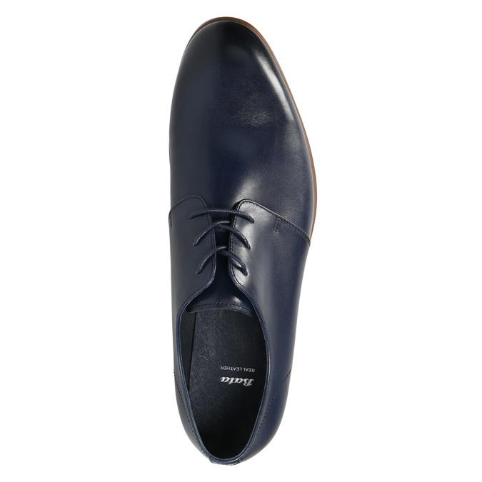 Modré kožené poltopánky bata, modrá, 826-9680 - 26