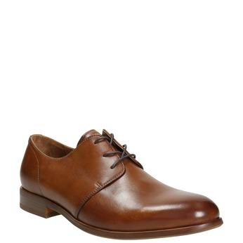 Kožené spoločenské poltopánky bata, hnedá, 826-3680 - 13