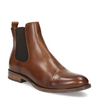 Kožená hnedá dámska Chelsea obuv bata, hnedá, 594-4636 - 13