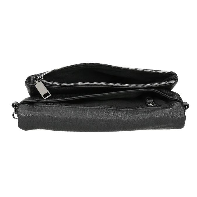 Dámska listová kabelka s cvočkami bata, čierna, 961-6791 - 15
