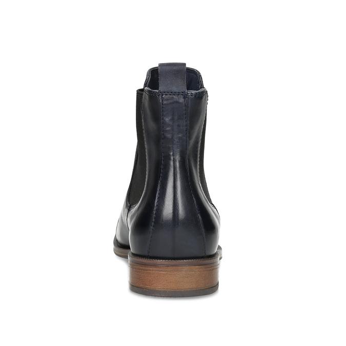 Dámska kožená Chelsea obuv bata, modrá, 594-9636 - 15