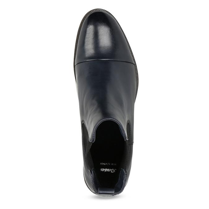 Dámska kožená Chelsea obuv bata, modrá, 594-9636 - 17