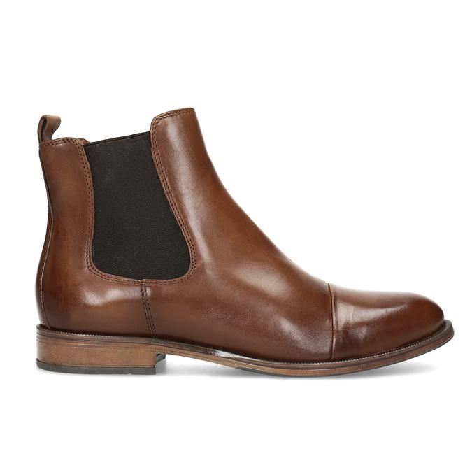 Kožená hnedá dámska Chelsea obuv bata, hnedá, 594-4636 - 19