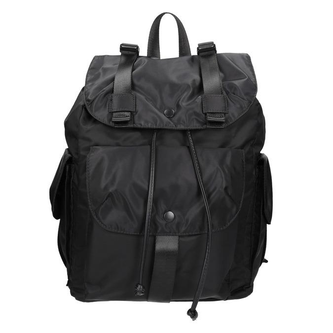Čierny batoh s vreckami bata, čierna, 969-6163 - 26