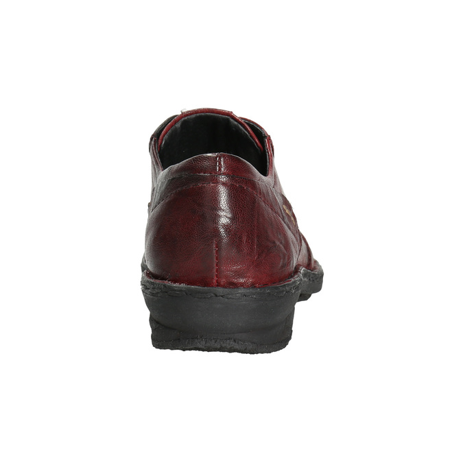 Dámske kožené poltopánky bata, červená, 526-5640 - 17