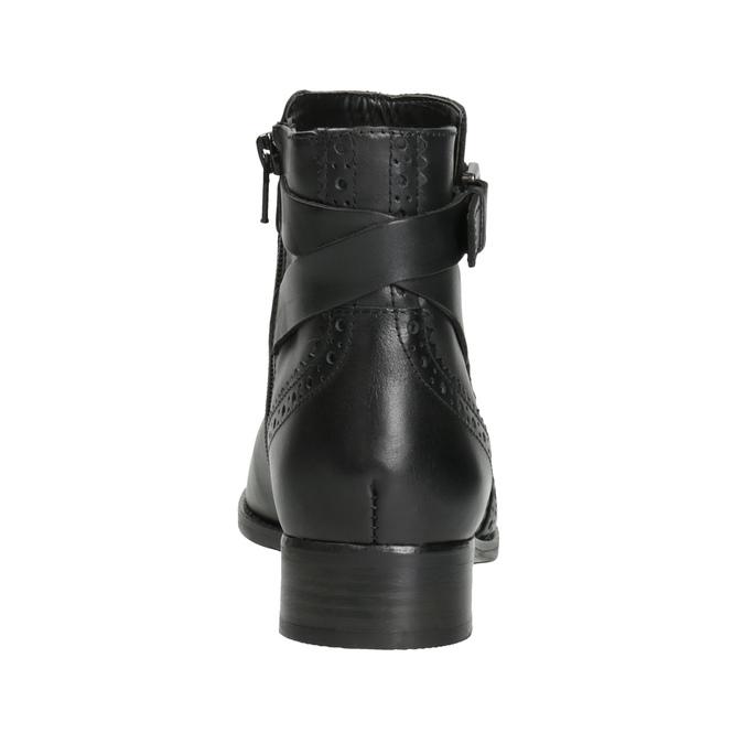 Kožená členková obuv so zdobením clarks, čierna, 614-6027 - 16