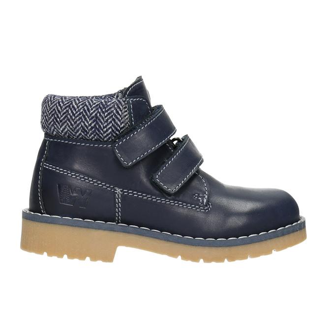 Detská kožená členková obuv weinbrenner-junior, modrá, 216-9200 - 26