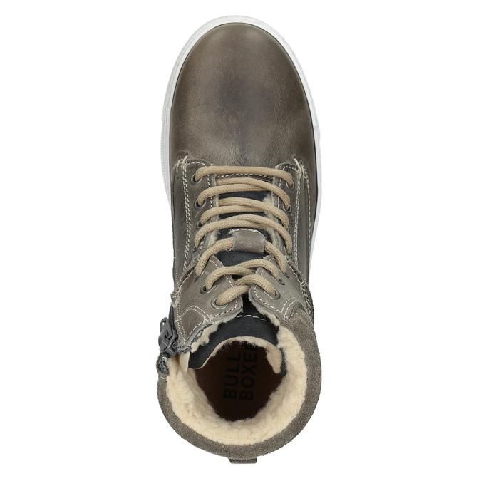 Detská kožená členková obuv bullboxer, šedá, 494-8023 - 15