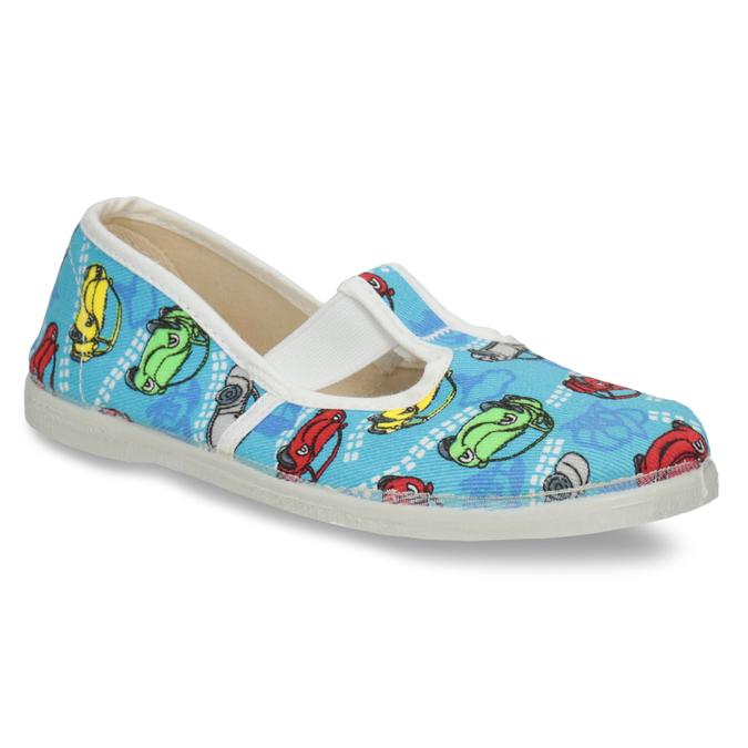 Detská domáca obuv s autíčkami bata, modrá, 279-9105 - 13