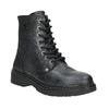 Detské kožené šnurovacie topánky bullboxer, čierna, 496-6016 - 13